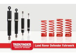 Höherlegungsfahrwerk TREKFINDER für LR 90 mit TREKFINDER / Koni Dämpfer