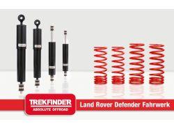 Höherlegungsfahrwerk TREKFINDER für LR 110 mit TREKFINDER / Koni Dämpfer