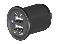 Doppel-USB Steckdose, Einbau