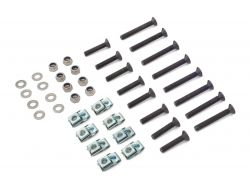 Türscharnier Montage-Kit, Edelstahl (schwarz) 4- Türen