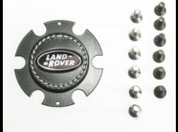 LR-Logo für Raid-Sportlenkrad schwarz /silber