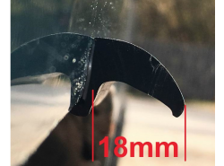 Kotflügelverbreiterung universal 60 Millimeter breit / 1 x 6,0mtr.