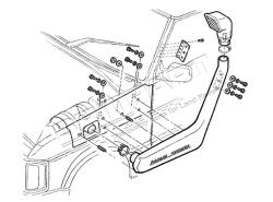 Luftansaugschnorchel SAFARI Discovery I 200Tdi