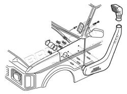 Luftansaugschnorchel SAFARI Discovery I 300Tdi/V8