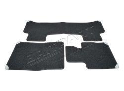 Paßformmattensatz Teppich/Gummi Range Rover LM Jet (grau)